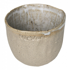Ceramic mug - grey/cream